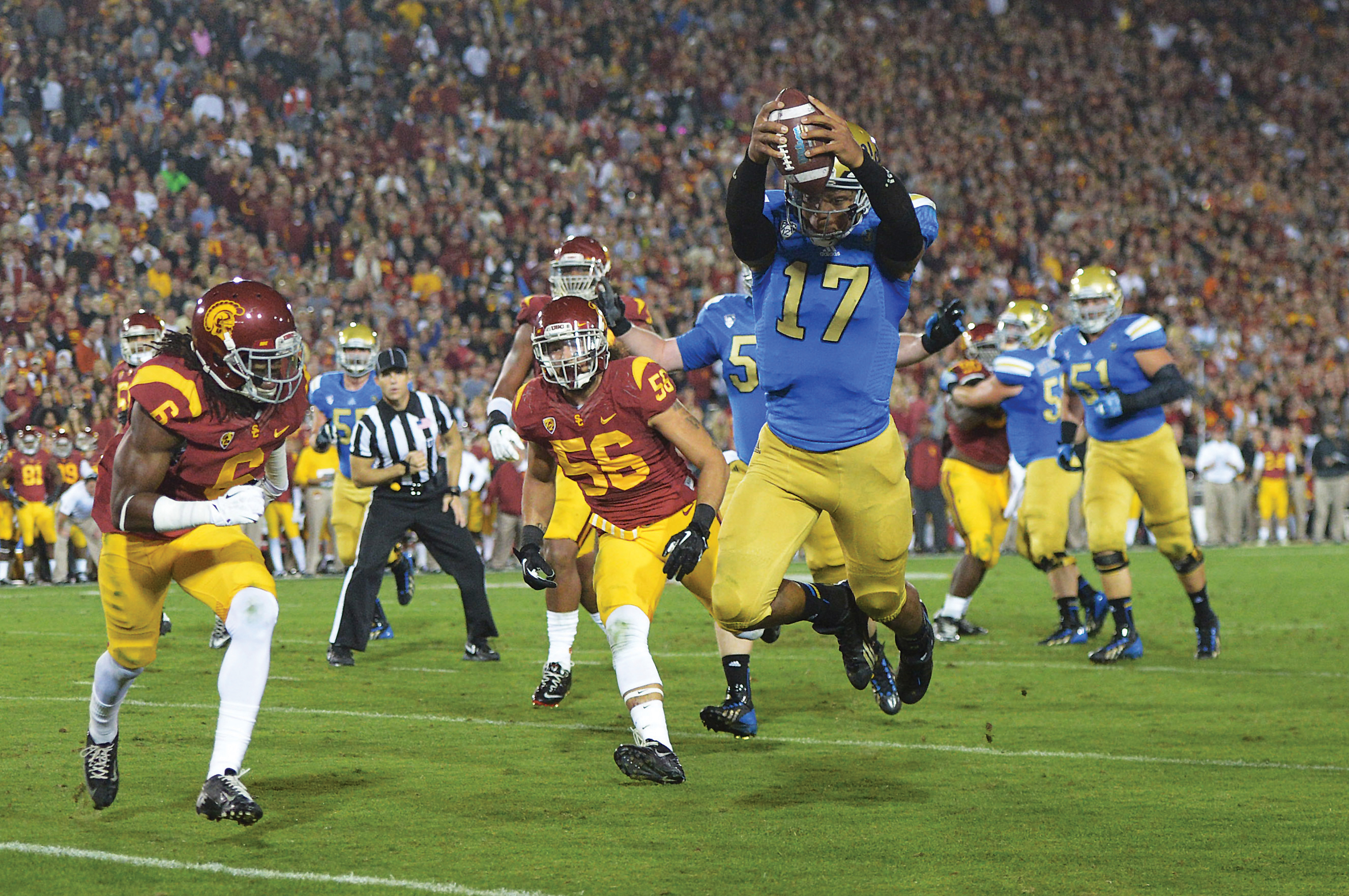 USC vs. UCLA: A Cardinal and Gold Against Blue and Gold ...